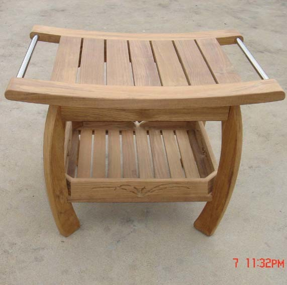 China Teak Shower Bench China Signature Hardware Teak Shower Bench