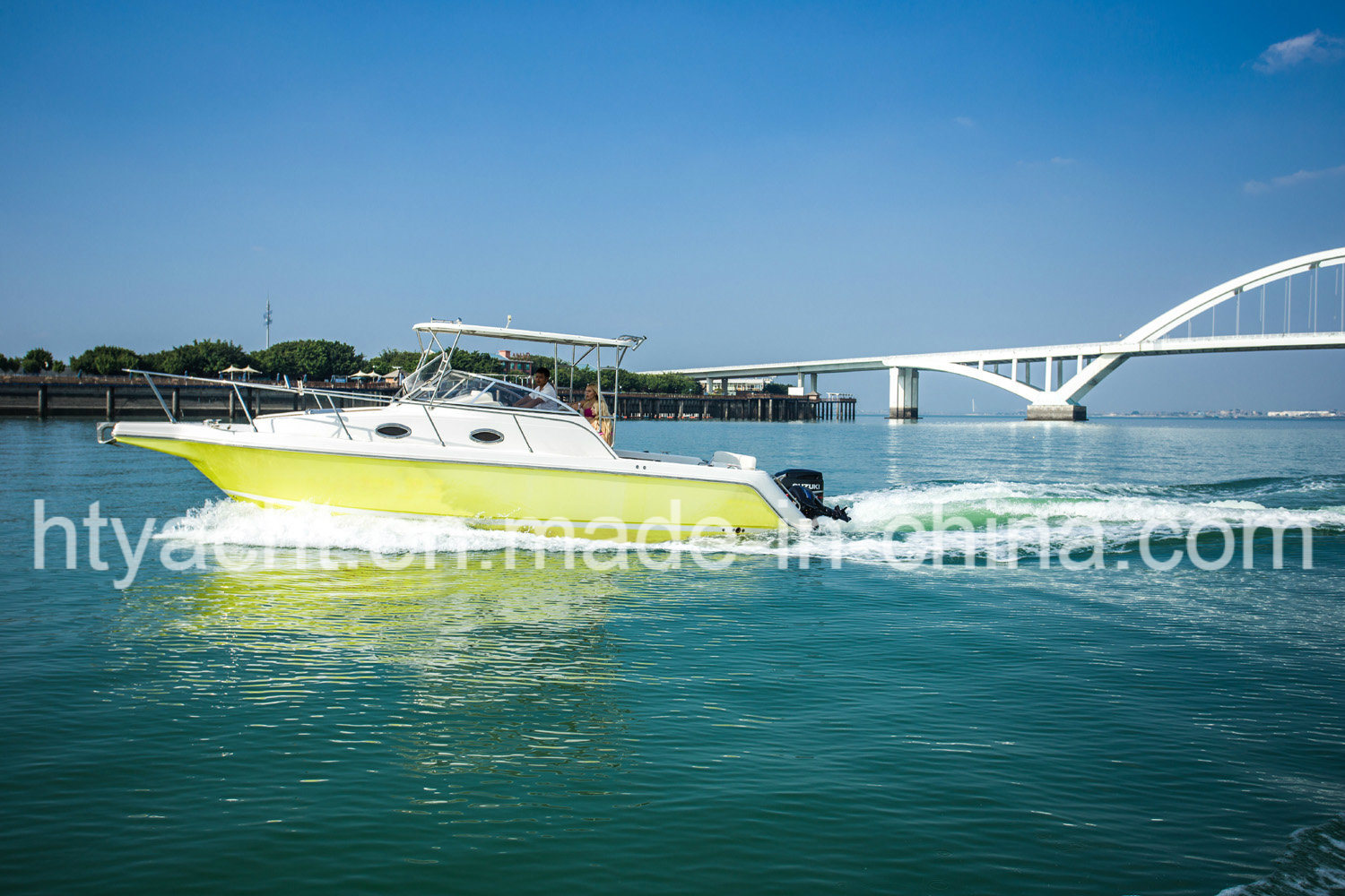 30′ Fiberglass Luxurious Fishing Boat Hangtong Factory-Direct