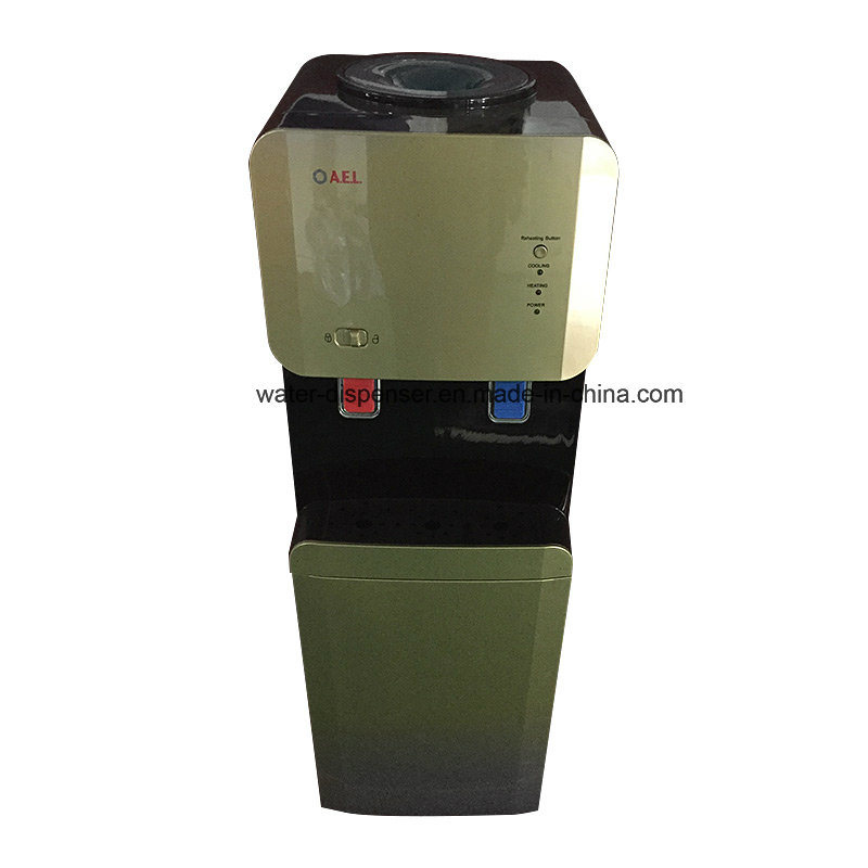 Bottled Water Dispenser with Safety Lock on Hot Water Special Painting Color