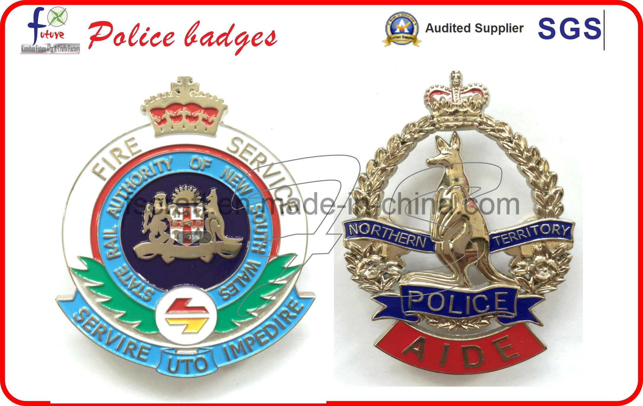 2016 New Customize Police Badges