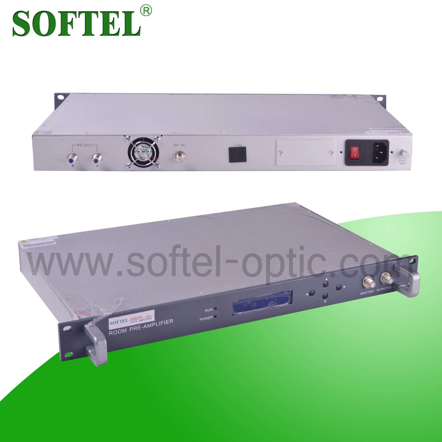 24dBm 1 U 19′′ Indoor Rack CATV EDFA of High Performance with RJ45 and RS232 Port for FTTX Solutions