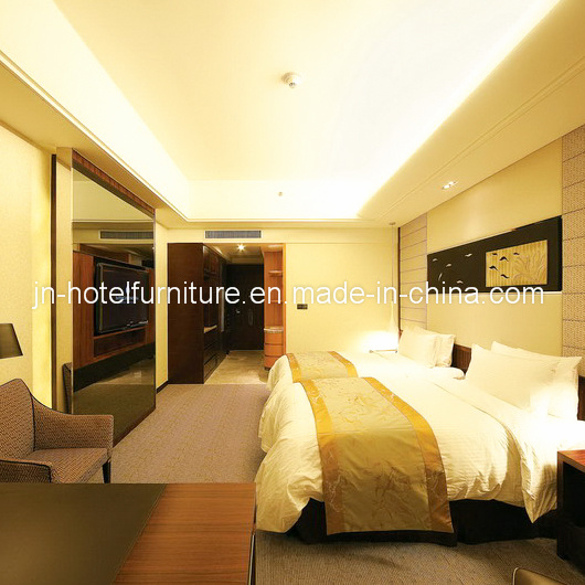 Chinese Modern Wooden Twin Size Hotel Room Furniture