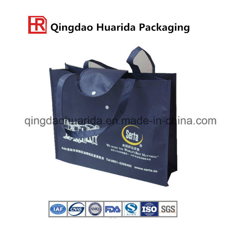 Supermarket Shopping Recycled Fabric Non-Woven Bag with Hand Rope