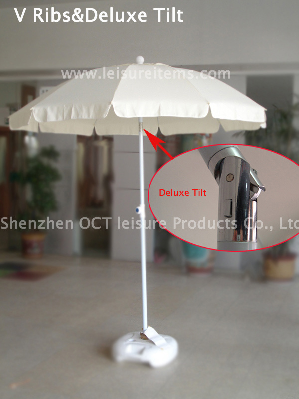Strong V Type Outdoor Umbrella (OCT-BUSTU-WHITE)
