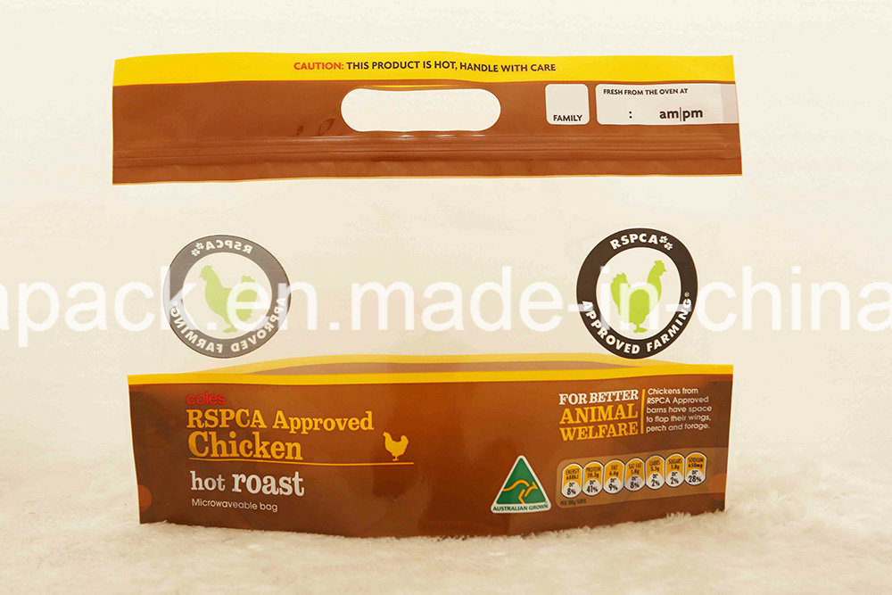 Hot Roast Chicken Bag with Zipper and Window