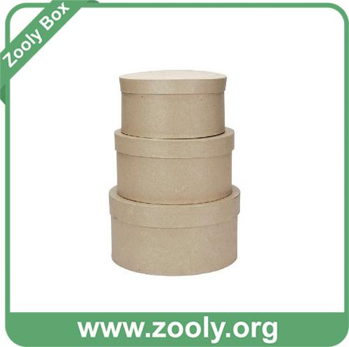 Nesting Gift Box / Cardboard Nested Paper Box / Round Nestable Storage Box
