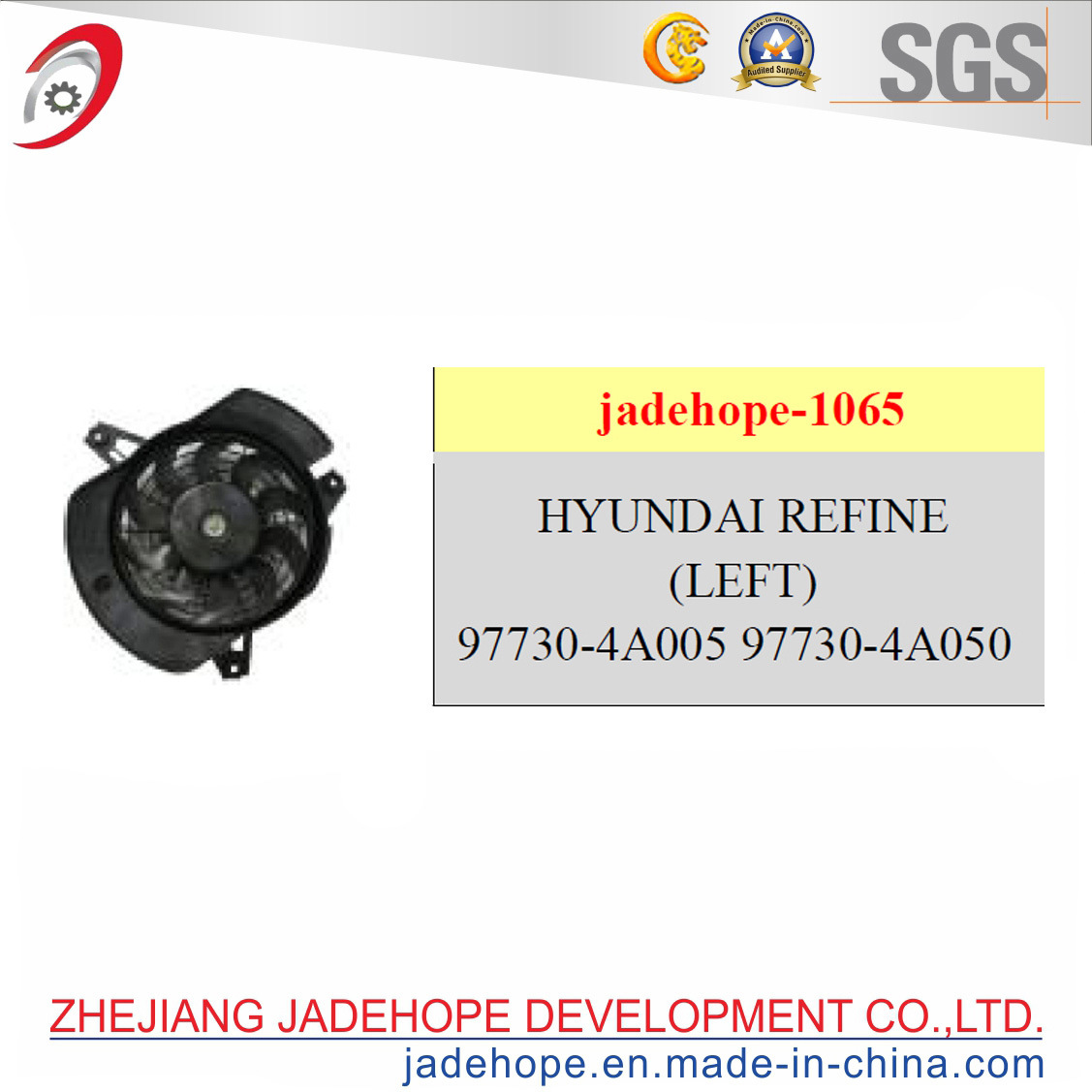 Radiator Fans Assy of and Fan Motor Double for Hyundai