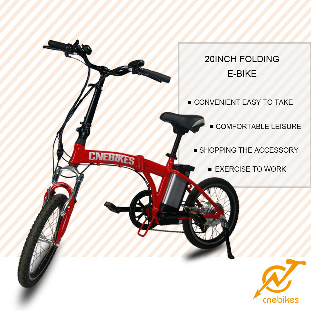 20′ 36V 250W Brushless Motor Aluminum Alloy Folding Electric Bicycle
