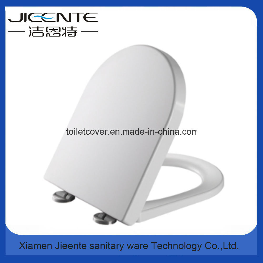 D Shape Polished Toilet Cover in Duroplast