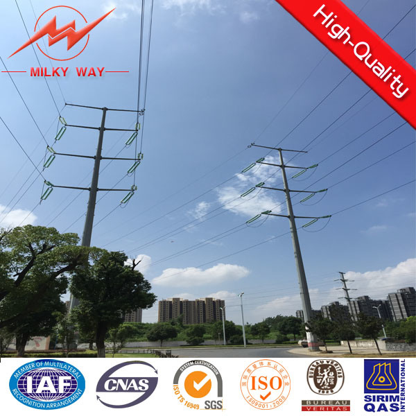 9m 500dan Electric Steel Pole with Bitumen for Africa