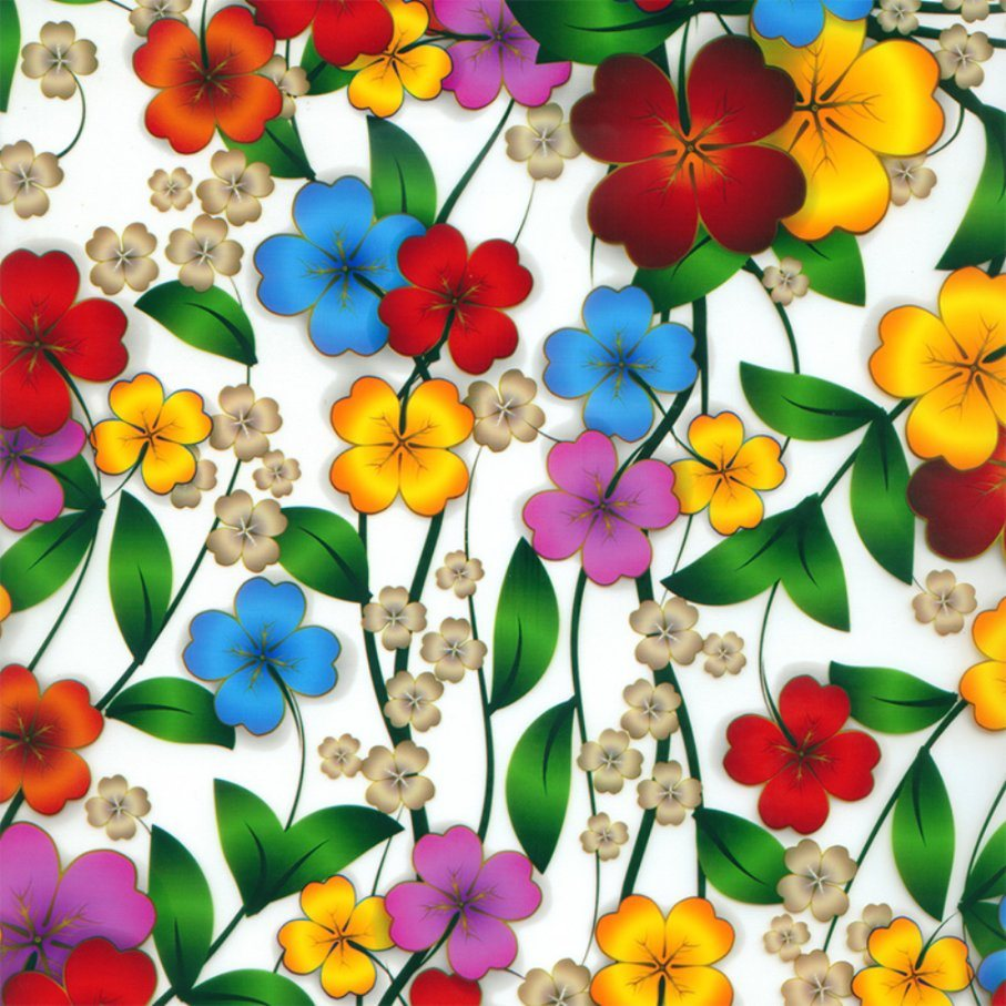 Kingtop 0.5m Width Flower Design Hydrographics Water Transfer Print Film Wdf9036