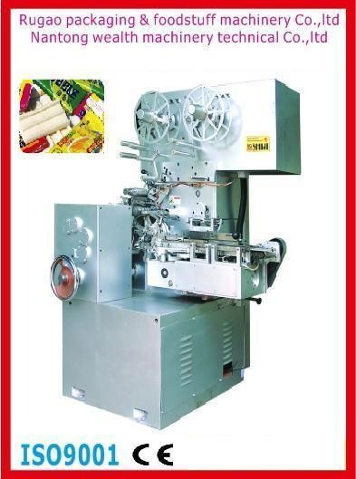 Qyb-350 Bubble Gum Cut and Fold Wrapping Machine