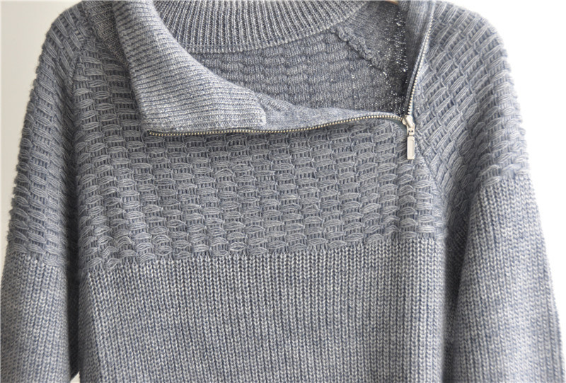 Winter Patterned Long Sleeve Knitting Pullover for Men