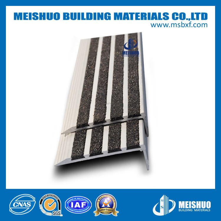 Aluminum Anti-Slip Step Stair Nosing with Carborundum Insert (MSSNC-10)