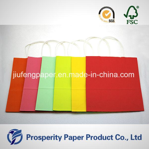 Colorful Kraft Paper Handbag