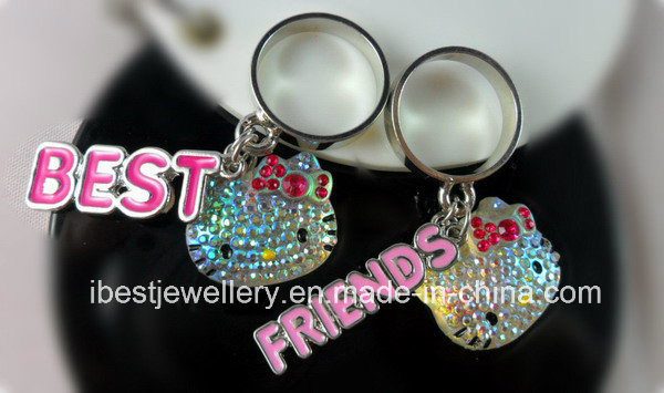 Fashion Jewelry-Hello Kitty Best Friend Finger Ring