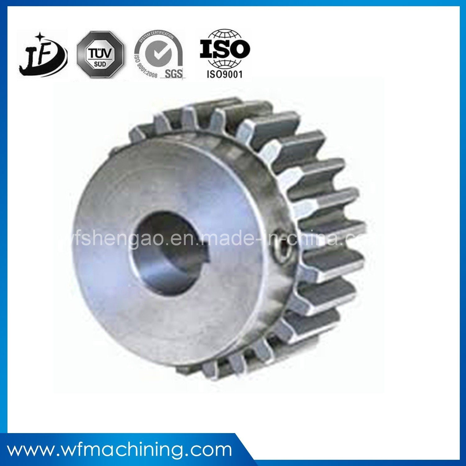 Gearbox Engine Parts Hardened and Tempered Steel Machined Pinion Differential Bevel/Planetary/Sprocket Gear for Transmission