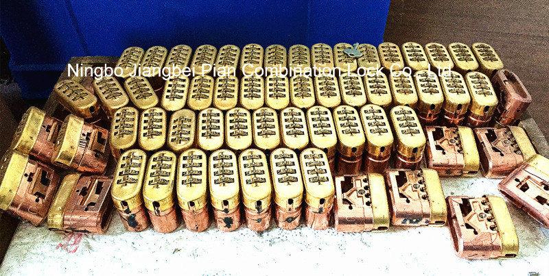 50mm 4 Digital Brass Combination Code Resettable Padlock