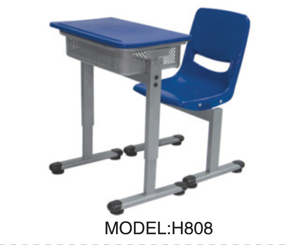 China student school classroom table and chair for children h808