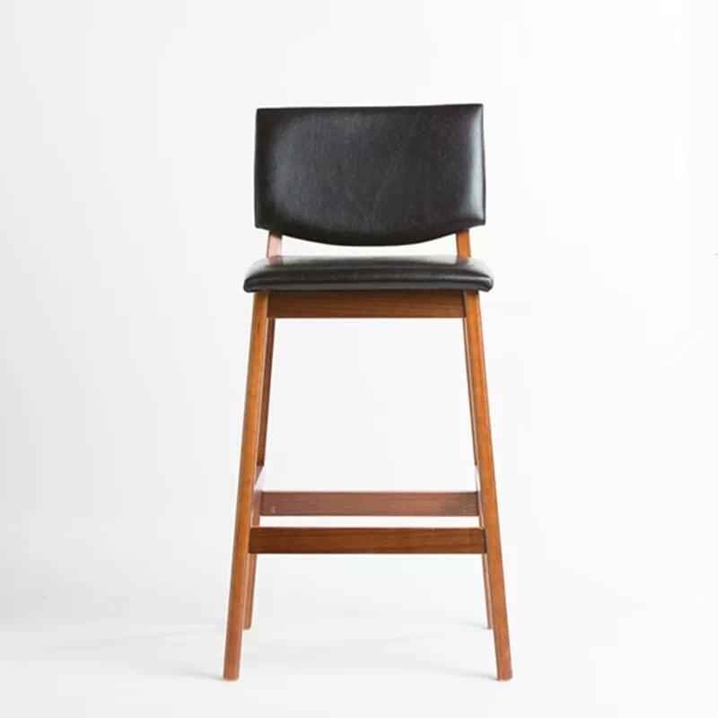 Italian Design Bar Furniture Luxury Black Leather Barstool