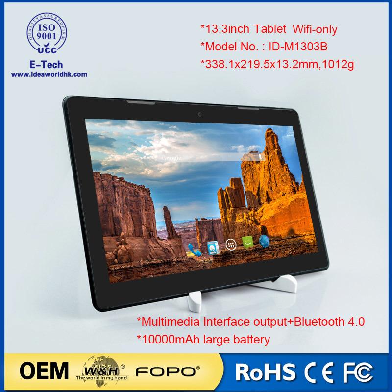 13.3inch WiFi Tablet PC Octa Core 2g/16GB OEM Tablet
