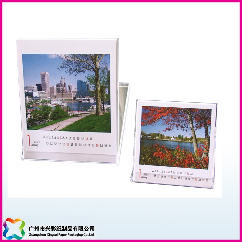 Advertising Promotion Gift Desktop Calendar with Plastic Case (XC-8-006)
