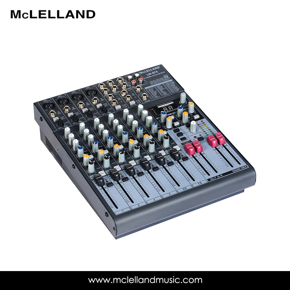 12- Input 2/2-Bus Mixer with Mic Preamps, Eqs, 24-Bit Multi-Fx Processor /Audio Interface / Audio Mixer (LM-8FX)