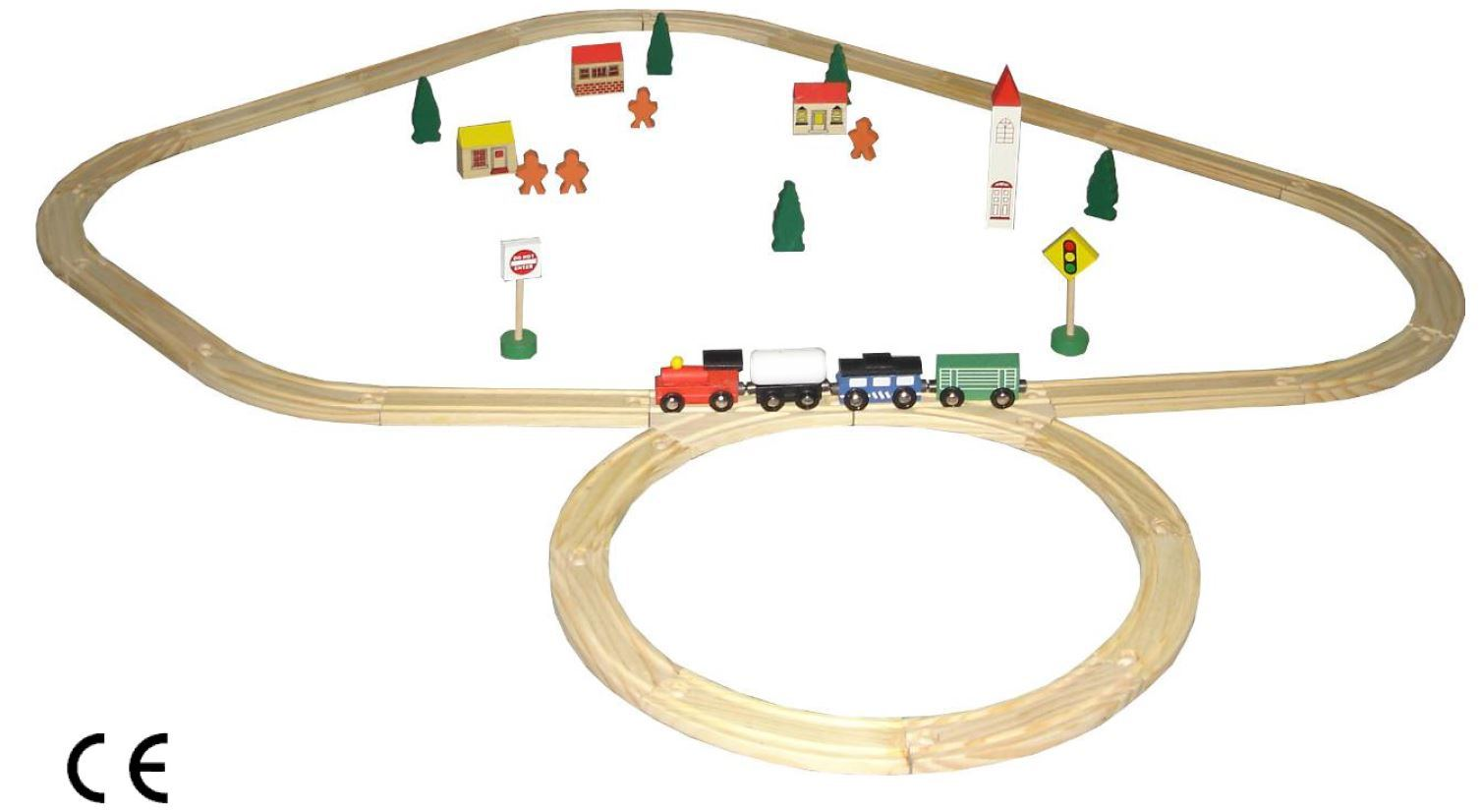 Wooden Toy Train Rail (19PCS) with En71 Certificate