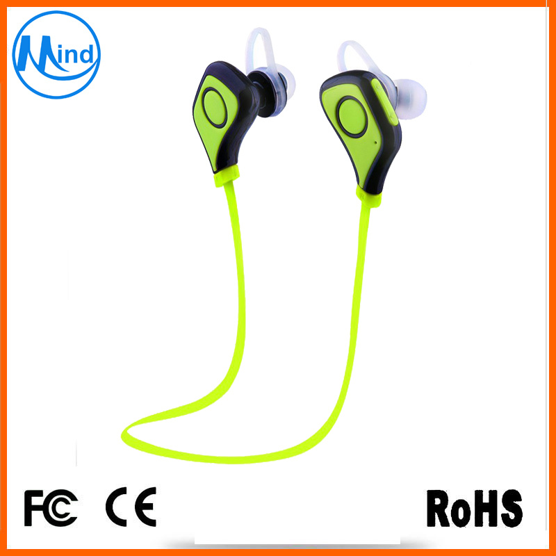 OEM Design Logo Printing Fashion Stereo Wireless Earphone with 75mAh Battery
