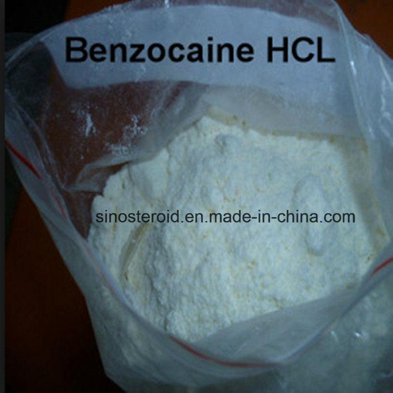 White Powder Benzocaine HCl Anesthetic Anodyne Benzocaine Hydrochloride 23239-88-5