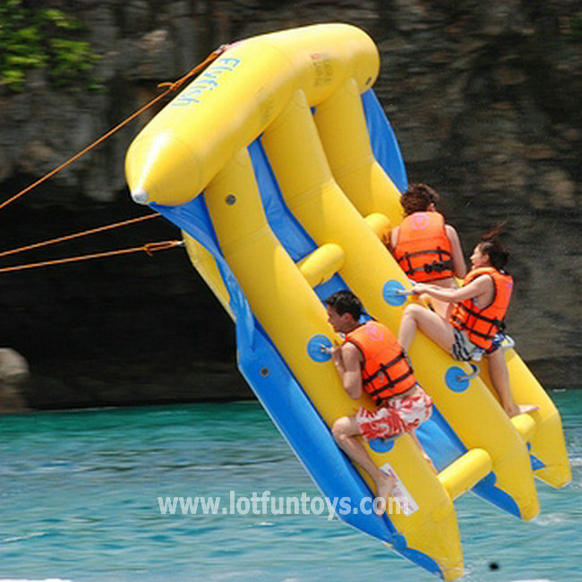 China summer water toys inflatable water fly fish flying for Fly fishing games
