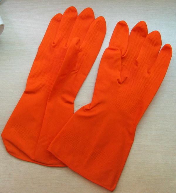 Flock Line Latex /Rubber Household Gloves