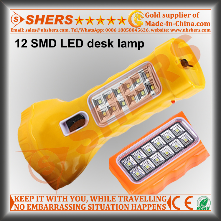 Solar 1W LED Flashlight with 12PCS LED Table Lamp (SH-1914)