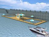 Anti Wave HDPE Deep Sea Floating Leisure Net Cages