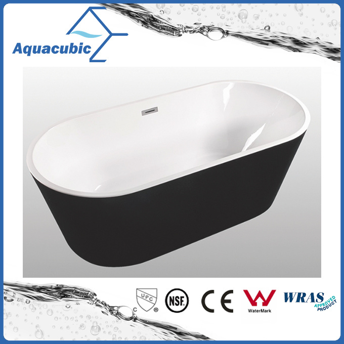 Bathroom Pure Acrylic Seamless Freestanding Bathtub