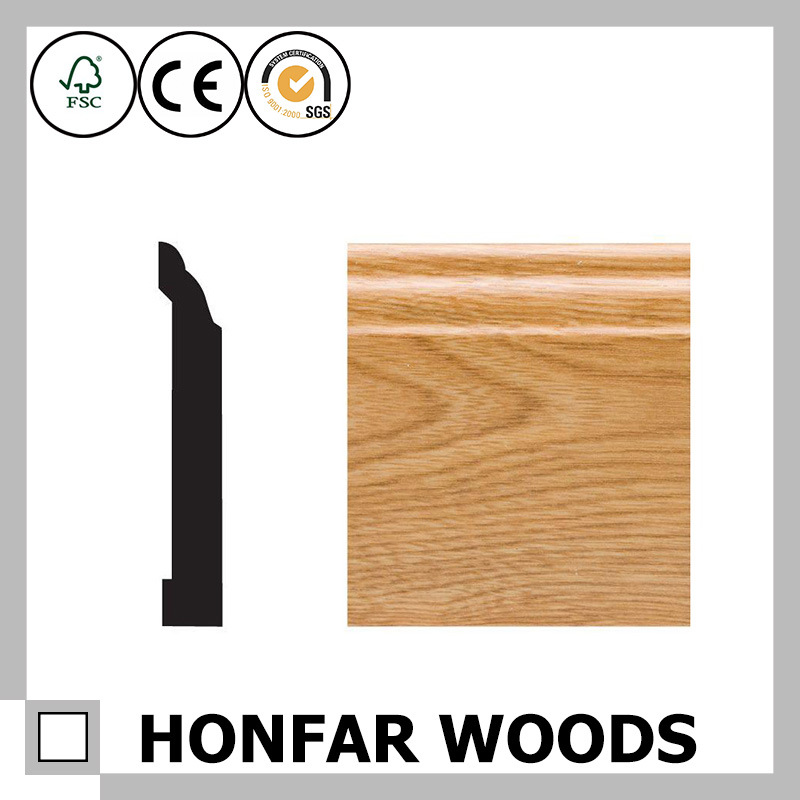 29/64 in. X 3-1/4 in. Oak Veneer Wood Skirting Moulding