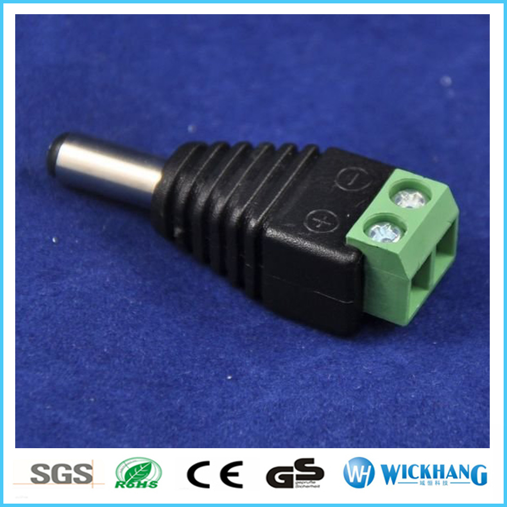 Male Mark Polarity DC Power Jack Adapter Connector Plug LED Strip