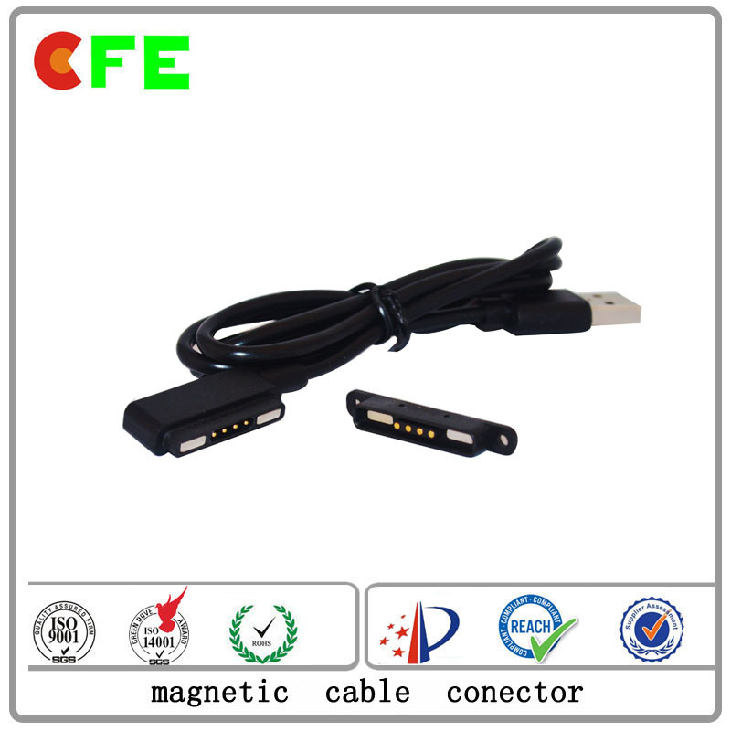 Magnetic 4pin Cable Connector for Portable Gas Detector
