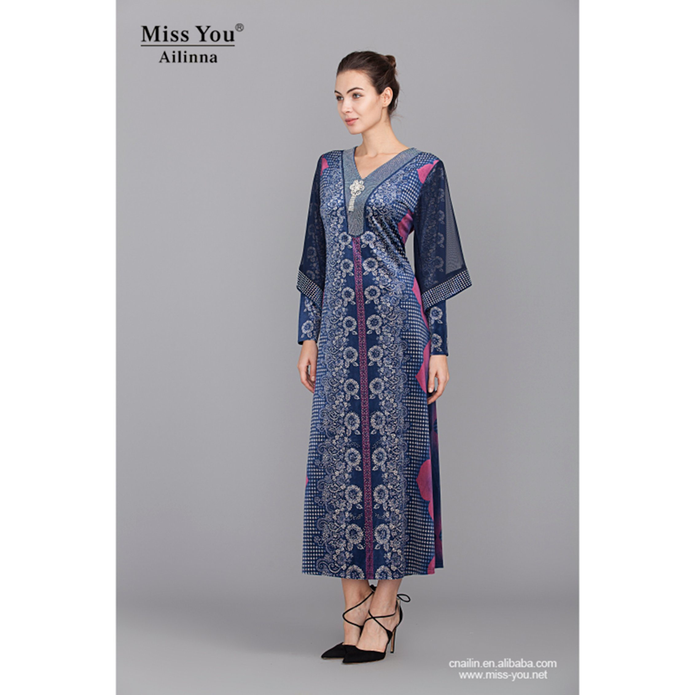 Miss You Ailinna 801895 Ethnic Beautiful Long Maxi Dress