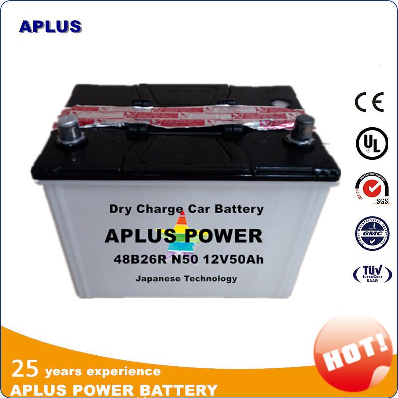 Popular Model Lead Acid Car Batteries 12V 50ah N50 48b26r