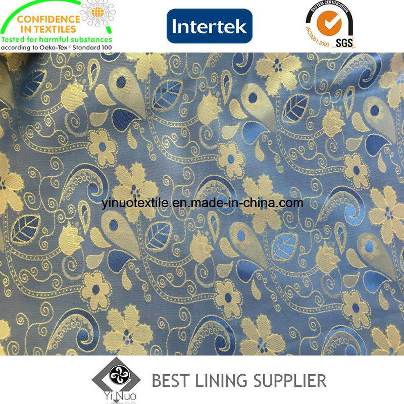 New T/R Men′s Suit Jacket Jacquard Lining Fabric Manufacturer