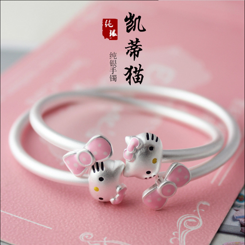 The S925 Pure Silver Bracelet Hellokitty Hello Kitty Bracelet