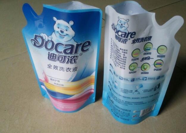 Spout Pouch with Cap Plastic Bags Drink for Liquid Detergent
