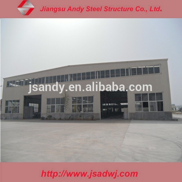 Low Cost Workshop with Steel Arch Truss Structure for Export