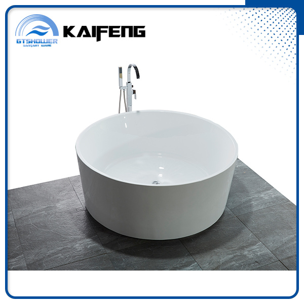 Cheap Acrylic Deep Stand Alone Round Bathtub (KF-732)
