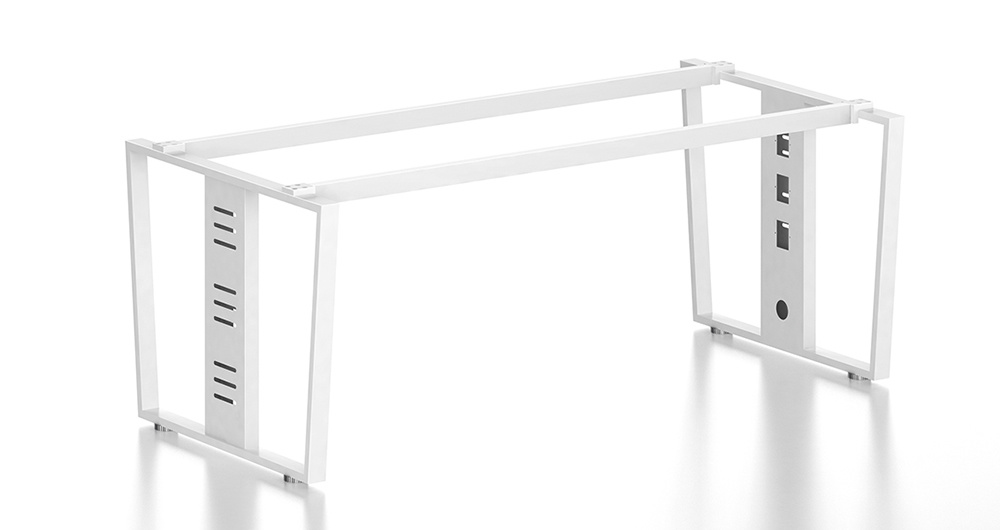White Customized Metal Steel Office Staff Table Frame with Ht99-1