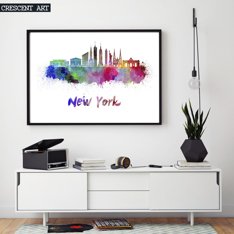 Impressionism New York City Abstract Wall Art