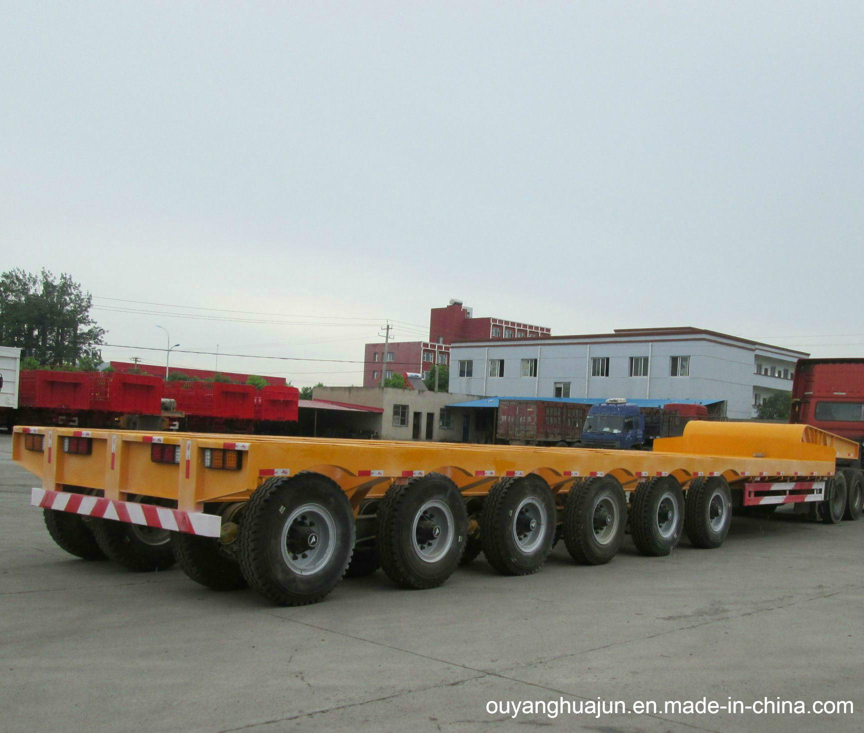 2 Axles Super Low Bed Vehicle Semitrailer