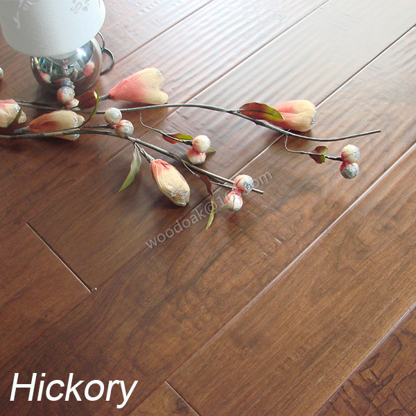 Handscraped Rustic Hickory Hardwood Flooring Hickory Wooden Flooring