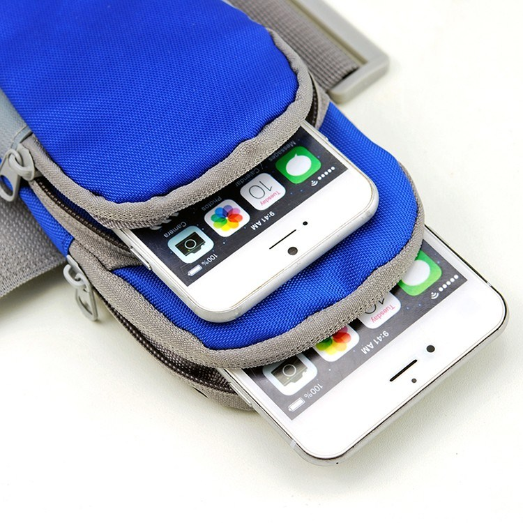 Outdoor Sport Phone Armbag Nylon Running Jogging Pouch Bag for Smartphone